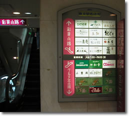 東京駅名店街看板