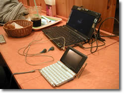 バイオC1と無線LAN内蔵のクリエ「UX-50」